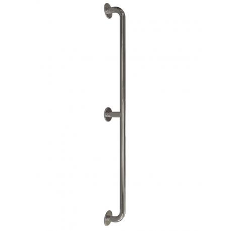 gerader Seitenwandgriff Edelstahl (mit Abdeckrosetten) fi32  170 cm