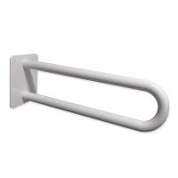 Stützgriff am Waschbecken oder WC für Senioren mit Wandplatte weiß fi25 60 cm