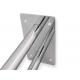 Stützgriff am Waschbecken mit Wandplatte Edelstahl fi25  50 cm