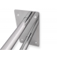 Stützgriff am Waschbecken mit Wandplatte Edelstahl fi25  80 cm