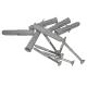 Stützgriff am Waschbecken links montiert Edelstahl (mit Abdeckrosetten) fi32  55 cm