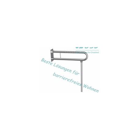 Klappgriff am WC o. Waschbecken mit Stützbein Edelstahl fi32  60 cm