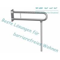 Klappgriff am WC für Senioren mit Stützbein Edelstahl fi32 75 cm