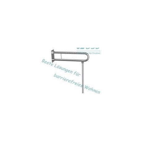 Klappgriff am WC o. Waschbecken mit Stützbein Edelstahl fi32  75 cm