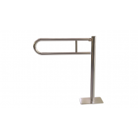 WC-Klappgriff zur Bodenmonage Edelstahl fi25  50 cm