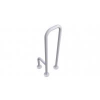 WC-Stützgriff zur Bodenmontage weiß (mit Abdeckrosetten) fi32  rechts montiert