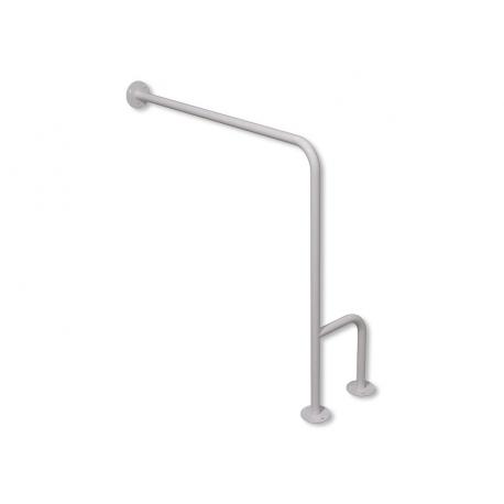 WC-Stützgriff zur Wand-Boden-Montage weiß fi25 70 cm links montiert