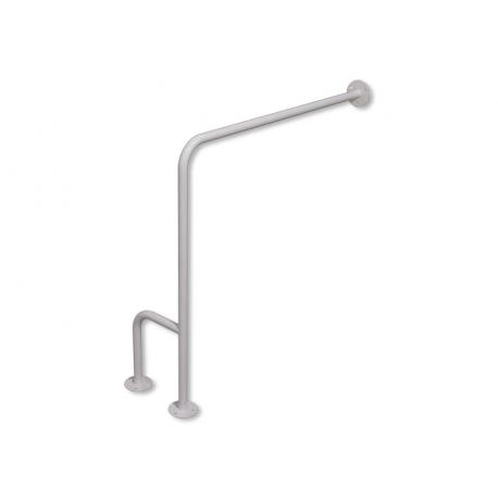 WC-Stützgriff zur Wand-Boden-Montage weiß fi25 80cm/75cm rechts montiert