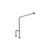 WC-Stützgriff zur Wand-Boden-Montage Edelstahl fi25 70cm rechts montiert