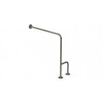 WC-Stützgriff zur Wand-Boden-Montage Edelstahl fi25 80cm/75cm links montiert