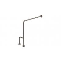 WC-Stützgriff zur Wand-Boden-Montage Edelstahl fi25 80cm/75cm rechts montiert